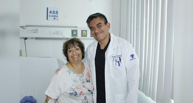 Con cirugía en Issstep, mujer de la tercera edad recuperará movilidad
