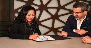 Firma Cuautlancingo convenio con universidades