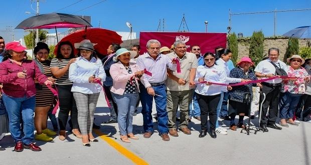 Pavimentan calles y rehabilitan drenaje en Cuautlancingo