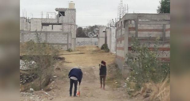 Antorcha gestiona trabajos para llevar drenaje a colonia Encinos