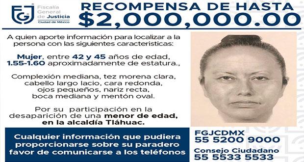 Difunden retrato hablado de raptora de Fátima ¿La reconoces?