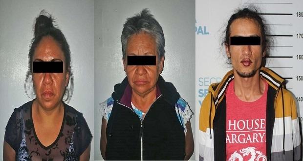 En Puebla capital, detienen a cuatro por diversos robos. Foto: Especial