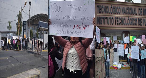 Alumnos se solidarizan con movimiento de la BUAP y Upaep; exigen seguridad