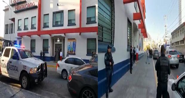 Por amenaza de tiroteo, hacen operativo mochila en Colegio Americano