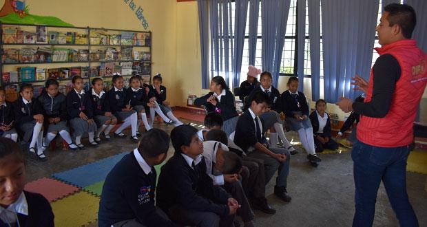Realizan pláticas sobre violencia de género en Ocoyucan