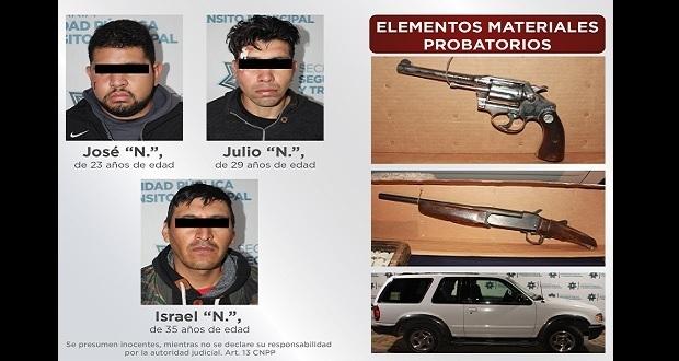 Detienen a 3 por asalto a gasolinera colonia Joaquín Colombres