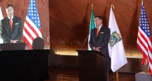 Gobierna estatal reúne a Pymes poblanas con embajador de EU