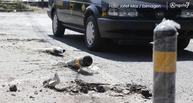 Comuna pagará la reinstalación de bolardos dañados por conductores