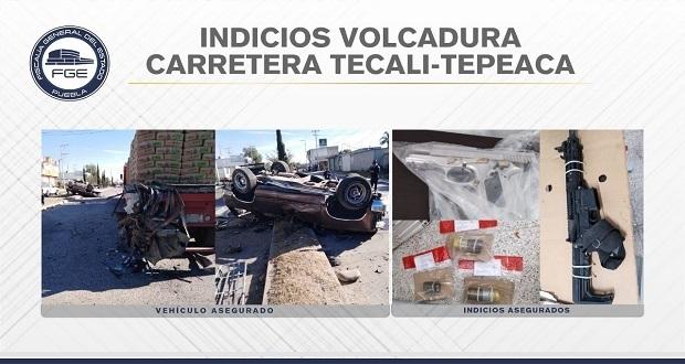 Persecución deja tres delincuentes muertos en Tecali