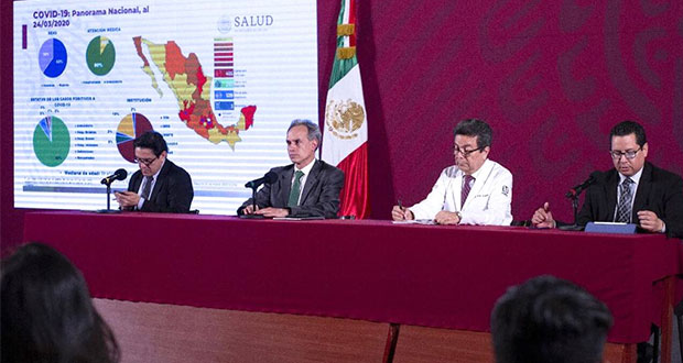 En México, 5 muertos y 405 enfermos por Covid-19; alistan hospitales