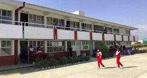 Antorcha gestiona 2 aulas nuevas para secundaria de Huejotzingo
