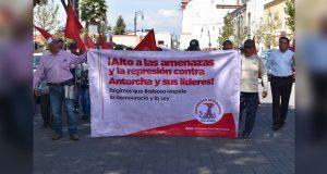 Antorchistas protestan en San Pedro y acusan campaña de agresión