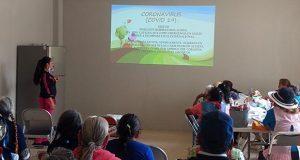 Asesora Comuna de Ocoyucan a adultos mayores sobre Covid-19