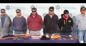 Detienen a seis en San Jerónimo Caleras por robo de cable telefónico
