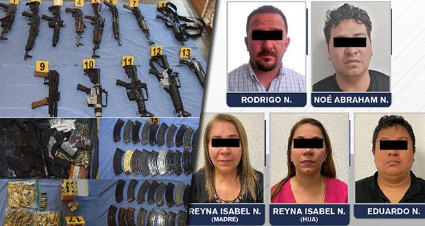 Detienen a banda dedicada a secuestro y robo de vehículos en Puebla