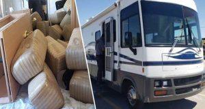 En Sonora, aseguran 890 kilos de mariguana que iban en casa rodante