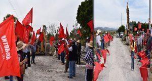 Inauguran construcción del camino sacacosechas en Ixcaquixtla