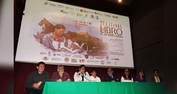 En San Andrés Cholula, presentan segundo Festival del Libro