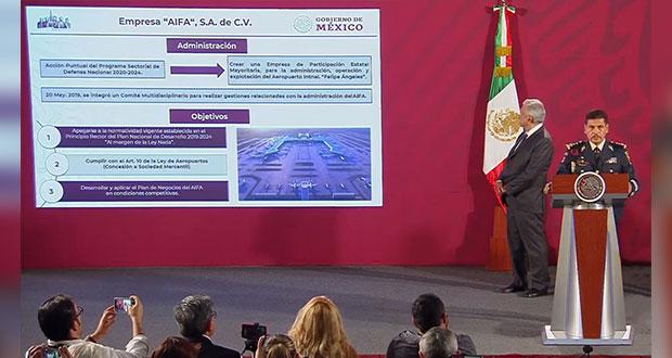 Sedena crea empresa AIFA para administrar aeropuerto en Santa Lucía
