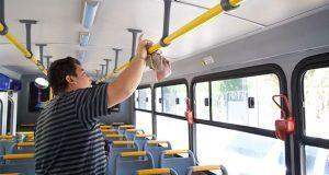 Supervisa SMT sanitización de unidades de transporte público