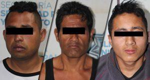 SSC detiene a 4 presuntos asaltantes en colonias de Puebla capital