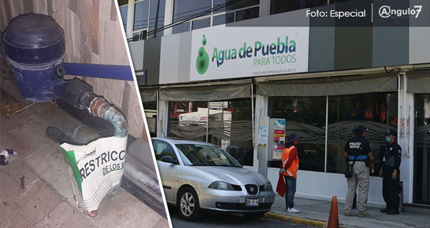 Vecinos de Los Héroes, acorralados por cortes y tarifas de Agua de Puebla