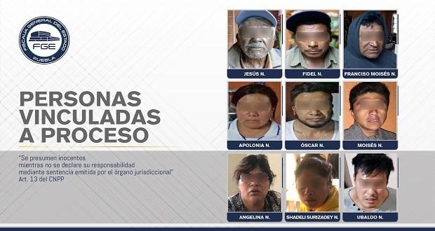 En prisión, 9 personas detenidas durante cateos de Coronango