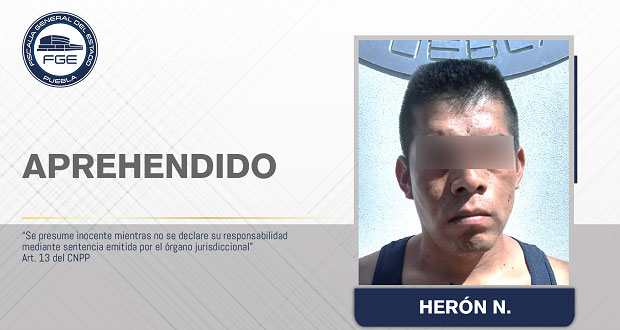 FGE aprehende a homicida de turistas en Cuetzalan