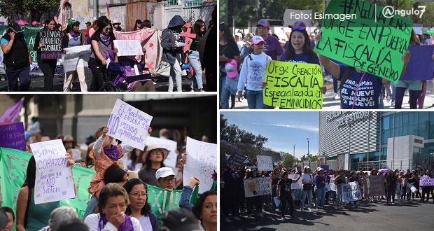 En Puebla, 65% de cobertura de medios de la marcha del 8 marzo fue positiva