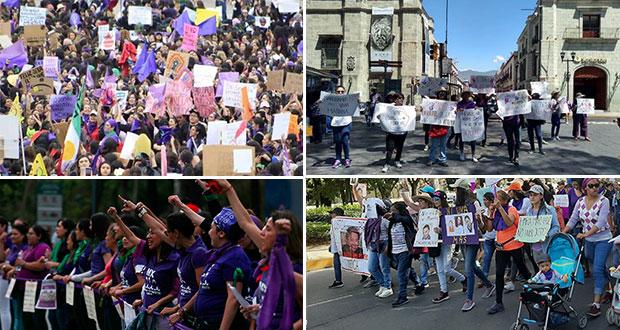 Las marchas por el Día de la Mujer en algunos puntos de México