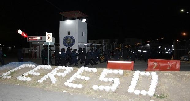 Policía Estatal y GN realizan megaoperativo en Cerezo de San Miguel