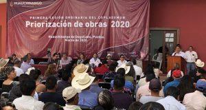 En reunión de Coplademun de Huauchinango exigen obras