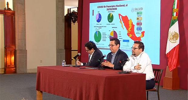 Tras 21 días, van 203 contagiados y 2 muertos por Covid-19 en México