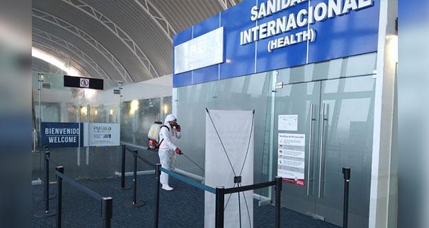 Aeropuerto Hermanos Serdán aplica medidas de prevención por Covid-19