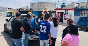 Antorcha entrega gel antibacterial a familias del sur de la ciudad