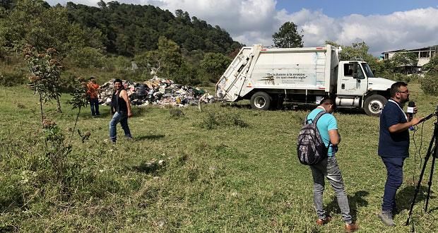 Antorchistas acusan que Huachinango usa terrenos para basurero