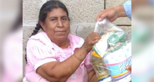 Apoya Antorcha con despensas en Hueyapan ante contingencia