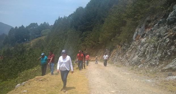 Comisión de Búsqueda labora en Ajalpan para encontrar a Natalia