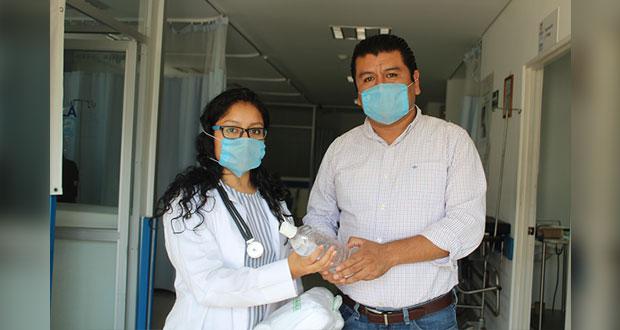 Comuna de Huitzilan entrega insumos a hospital ante contingencia