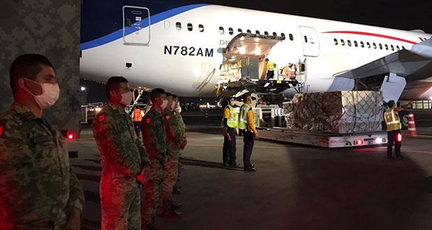 Desde China, llega a México avión con equipo para personal de Salud