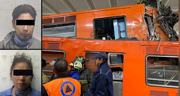 Detienen a conductor y reguladora por choque de dos trenes del Metro