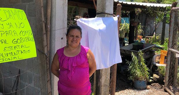 Habitantes de Juan Galindo y Huauchinango piden despensas