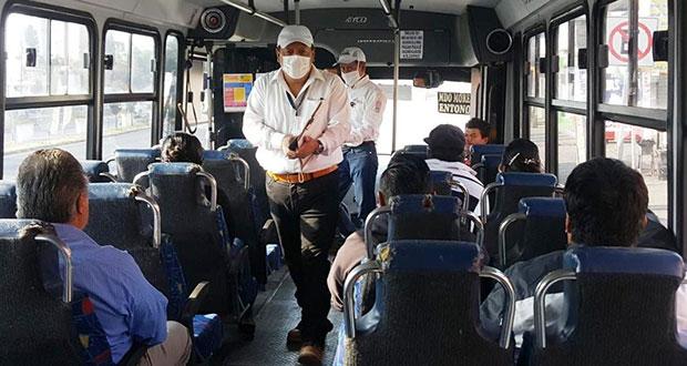 Infraccionan a unidades de rutas 64 y 65 por sobrecupo de pasajeros