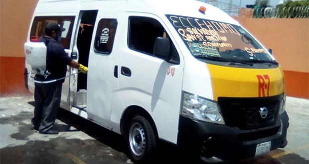 Inspecciona Movilidad y Transporte limpieza de 85 unidades en Tepeaca