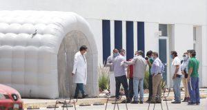 """Instalarán túneles sanitizadores en """"hospitales Covid-19"""" de Puebla"""
