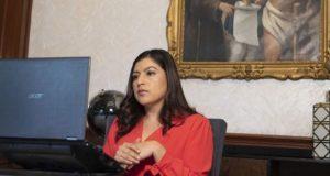 Llama Claudia Rivera a mantener coordinación ante Covid-19