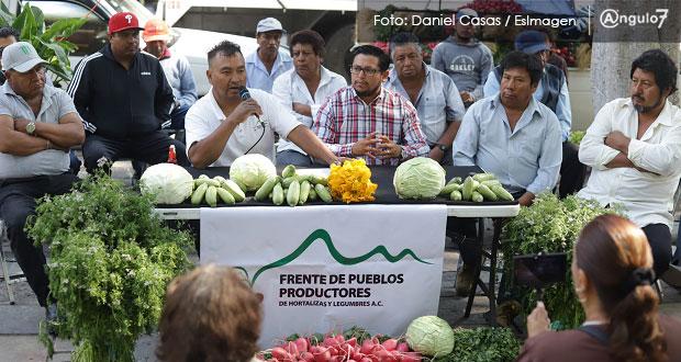 Productores de Cholula piden a gobierno incluirlos en proveedores de despensas