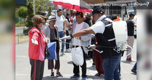 Puebla supera media nacional con 2.4 casos de Covid-19 por 100 mil habitantes