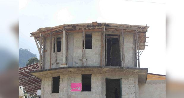 Rehabilitan caseta de policías en colonia de Huitzilan de Serdán