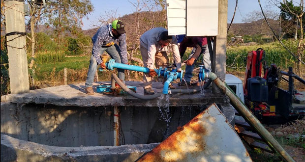 Rehabilitan dos pozos de agua potable en Tecomatlán